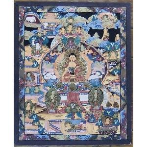 釈迦一代記 手描き曼荼羅Mn0904|himal