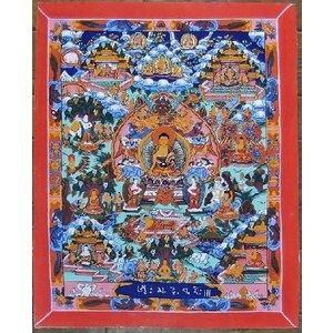 釈迦一代記 手描き曼荼羅Mn0908|himal