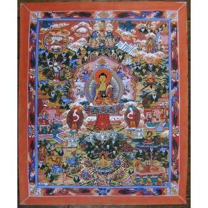 釈迦一代記 手描き曼荼羅Mn0909|himal