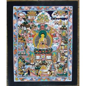 釈迦一代記 手描き曼荼羅Mn0912|himal