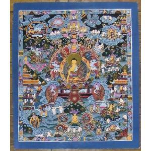 釈迦一代記 手描き曼荼羅Mn0913|himal