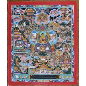 釈迦一代記 手描き曼荼羅Mn0919|himal