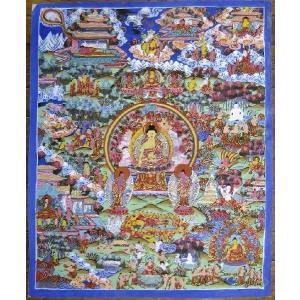 釈迦一代記 手描き曼荼羅Mn0921|himal
