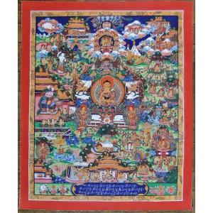 釈迦一代記 手描き曼荼羅Mn0922|himal