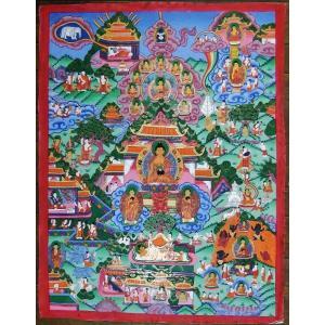 釈迦一代記 手描き曼荼羅Mn0927|himal