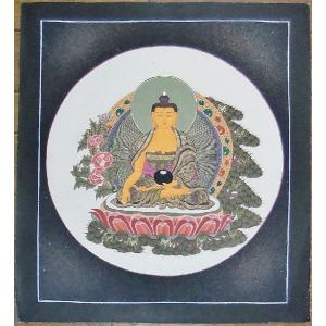 釈迦如来 手描き曼荼羅Mn1009|himal
