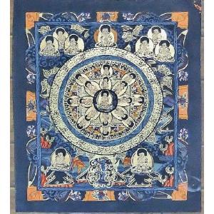 釈迦如来 手描き曼荼羅Mn1012|himal