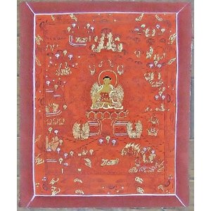 釈迦如来 手描き曼荼羅Mn1014|himal