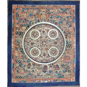 薬師如来 手描き曼荼羅Mn1106 himal
