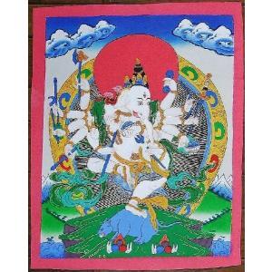 聖天ガネーシャ 手描き曼荼羅Mn1108|himal