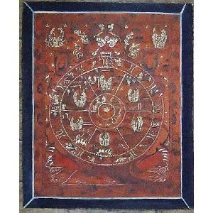六道輪廻 手描き曼荼羅Mn1311 himal