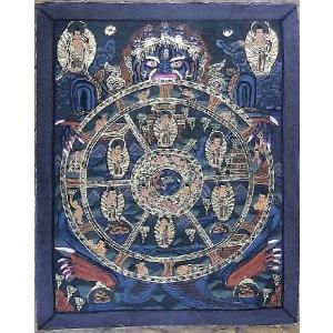 六道輪廻 手描き曼荼羅Mn1315 himal