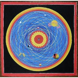 スペース(宇宙)曼荼羅Mn1402 手描き|himal