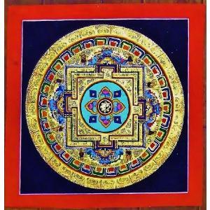 ドルジェ・センバ テルサル密教体系 手描き曼荼羅 Mn1505|himal