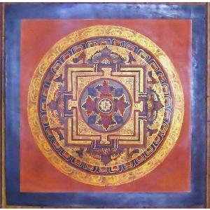 ドルジェ・センバ テルサル密教体系 手描き曼荼羅 Mn1506|himal