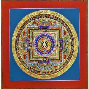 プルバ テルサル密教体系 手描き曼荼羅 Mn1512|himal
