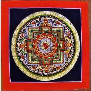 プルバ テルサル密教体系 手描き曼荼羅 Mn1514|himal