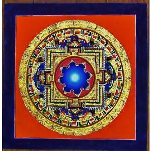 シ・トゥー テルサル密教体系 手描き曼荼羅 Mn1520|himal