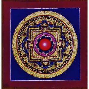 シ・トゥー テルサル密教体系 手描き曼荼羅 Mn1525|himal
