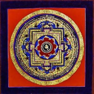 シ・トゥー テルサル密教体系 手描き曼荼羅 Mn1526|himal