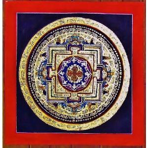 シ・トゥー テルサル密教体系 手描き曼荼羅 Mn1528|himal