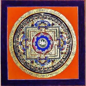 シ・トゥー テルサル密教体系 手描き曼荼羅 Mn1531|himal