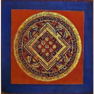 ラマ・ゴン・ドゥ テルサル密教体系 手描き曼荼羅 Mn1535|himal