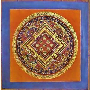 ラマ・ゴン・ドゥ テルサル密教体系 手描き曼荼羅 Mn1536|himal