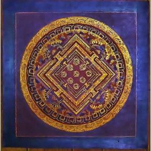 ラマ・ゴン・ドゥ テルサル密教体系 手描き曼荼羅 Mn1537|himal