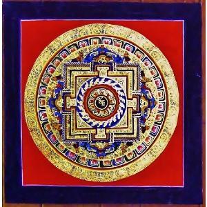 ラマ・サン・ドゥ テルサル密教体系 手描き曼荼羅 Mn1540|himal