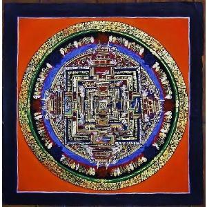 ド・ツォク テルサル密教体系 手描き曼荼羅 Mn1546|himal
