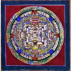 ド・ツォク テルサル密教体系 手描き曼荼羅 Mn1547|himal