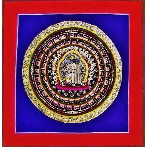 釈迦経文曼荼羅Mn1570 手描き|himal