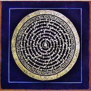 釈迦経文曼荼羅Mn1578 手描き|himal