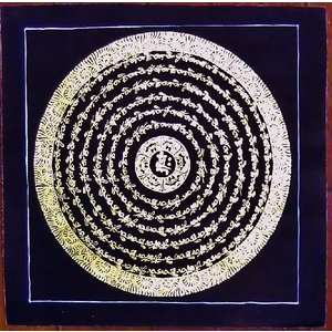 釈迦経文曼荼羅Mn1580 手描き|himal