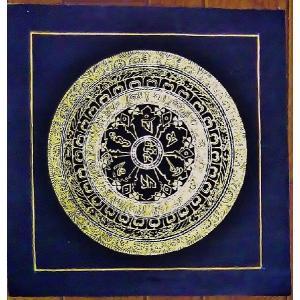 釈迦経文曼荼羅Mn1581 手描き|himal