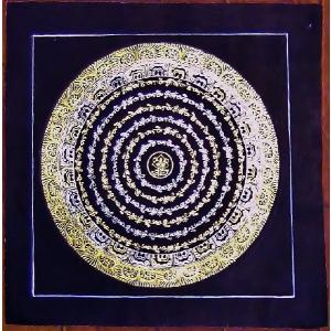 釈迦経文曼荼羅Mn1584 手描き|himal