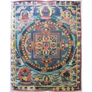 曼荼羅(古物) 釈迦如来 115 x 150cm Mn2501a|himal