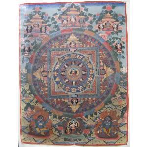 曼荼羅(古物)Mn2508 釈迦如来|himal