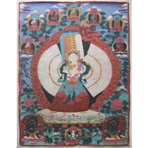 曼荼羅(古物)Mn2509 11面千手千眼観音菩薩・|himal