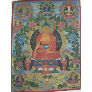 曼荼羅(古物)Mn2511 釈迦如来・|himal