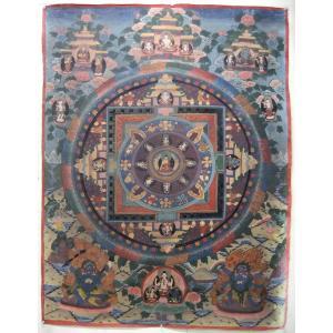 曼荼羅(古物)Mn2514 釈迦如来|himal