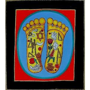 釈迦の足の裏曼荼羅 Mn4511 小 手描き|himal