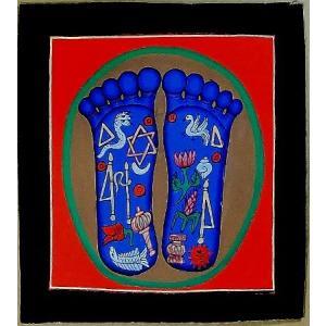 釈迦の足の裏曼荼羅 Mn4801 小 手描き|himal