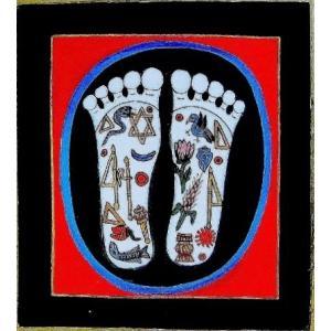 釈迦の足の裏曼荼羅 Mn4901 小 手描き|himal
