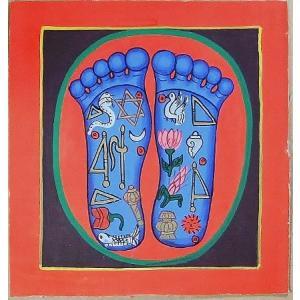 釈迦の足の裏曼荼羅 Mn5001 小 手描き|himal