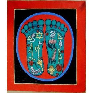 釈迦の足の裏曼荼羅 Mn5101 小 手描き|himal