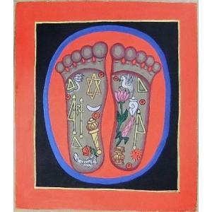 釈迦の足の裏曼荼羅 Mn5201 小 手描き|himal
