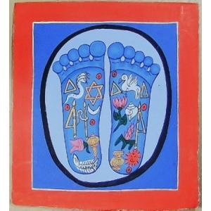 釈迦の足の裏曼荼羅 Mn5401 小 手描き|himal