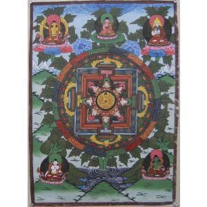 曼荼羅(古物)Mn61 釈迦如来|himal